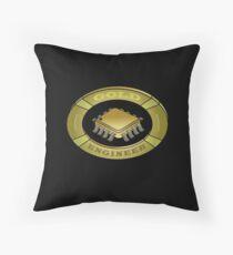 Gold design for an engineer Throw Pillow