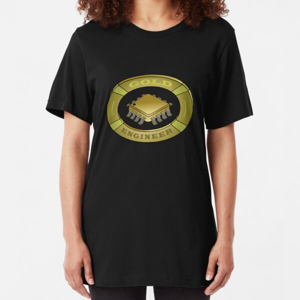 Logo for an electronic gold engineer Slim Fit T-Shirt