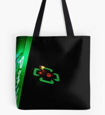 Green neon in the night Tote Bag