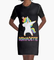 Dabbing Unicorn Bernadette - Special Personalised Gift For Bernadette Graphic T-Shirt Dress