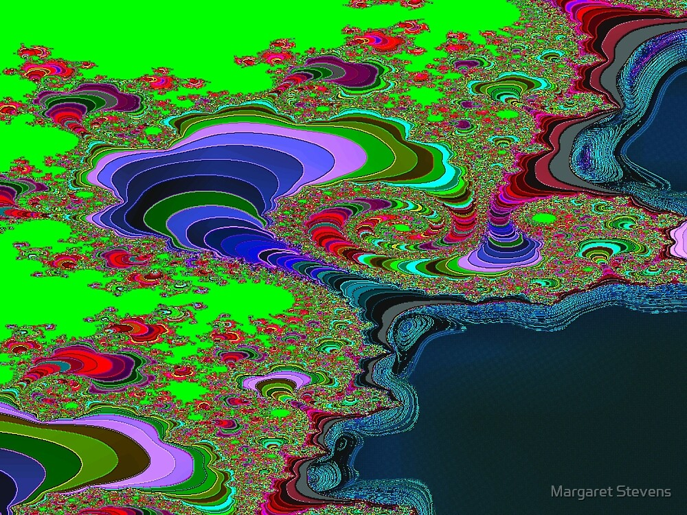 Earth From Space Abstract by Margaret Stevens