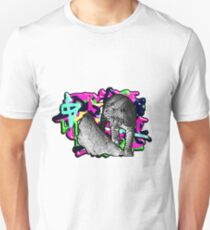 Leopard auf Bunt Unisex T-Shirt