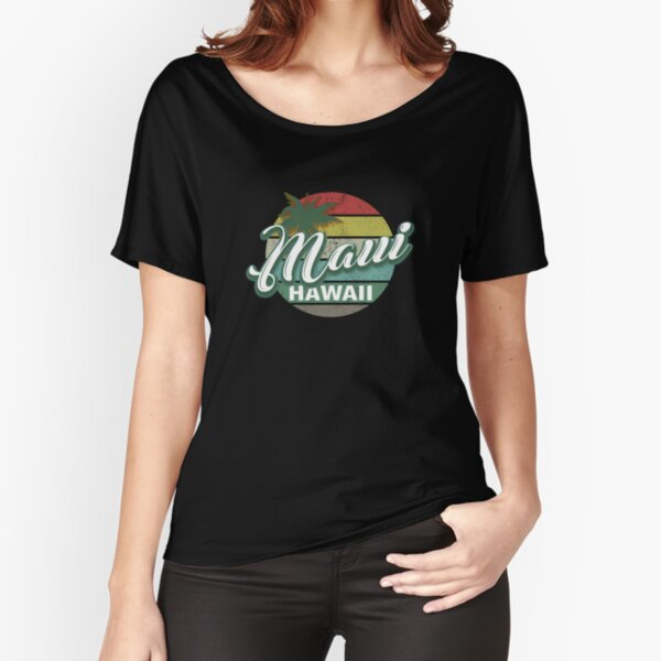 Maui Hawaii Retro Classic Vintage Design Relaxed Fit T-Shirt