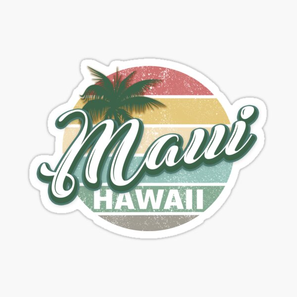 Maui Hawaii Retro Classic Vintage Design Sticker