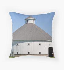 Round Barn-Albany, Indiana Throw Pillow