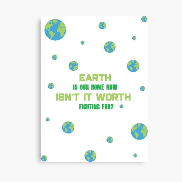 SU Peridot Earth Day Design Canvas Print