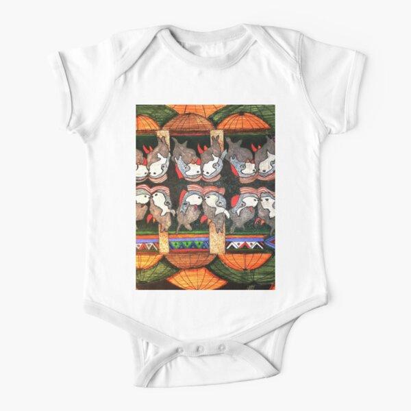 Africa - Rhythm of Africa Series- Rhinos Short Sleeve Baby One-Piece