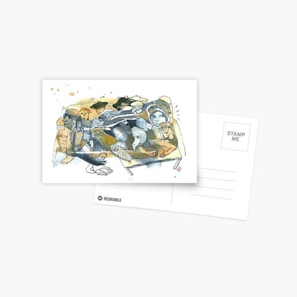 Aquarelle bleu et jaune de Naple n°8 Carte postale