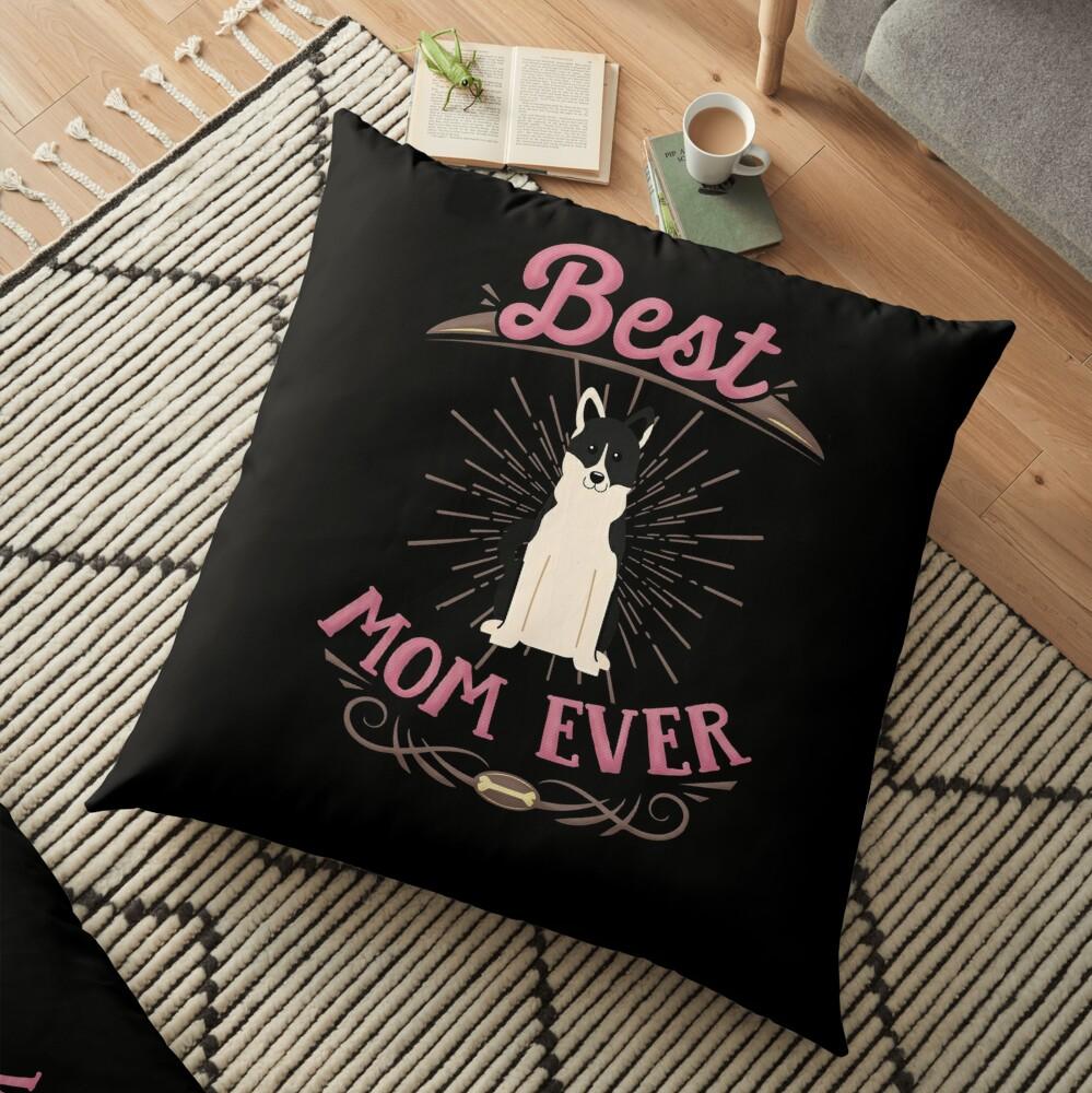 Russo European Laika Owner -  Best Russo European Laika Mom Floor Pillow