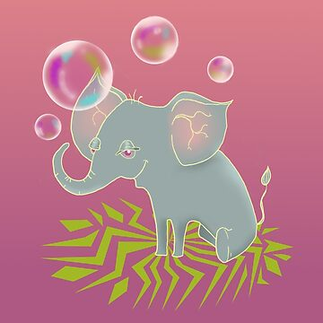 Bubblephant by ratswithhats