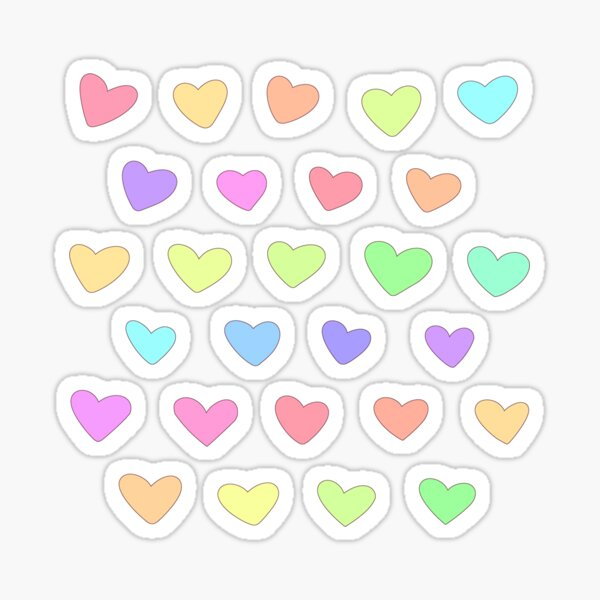 Candy Heart Doodles Sticker
