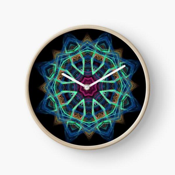 Blue Vortex Clock