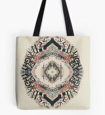Radial Typography  Tote Bag