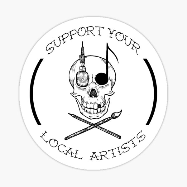 Support your local artists! - urban pirates flag Sticker