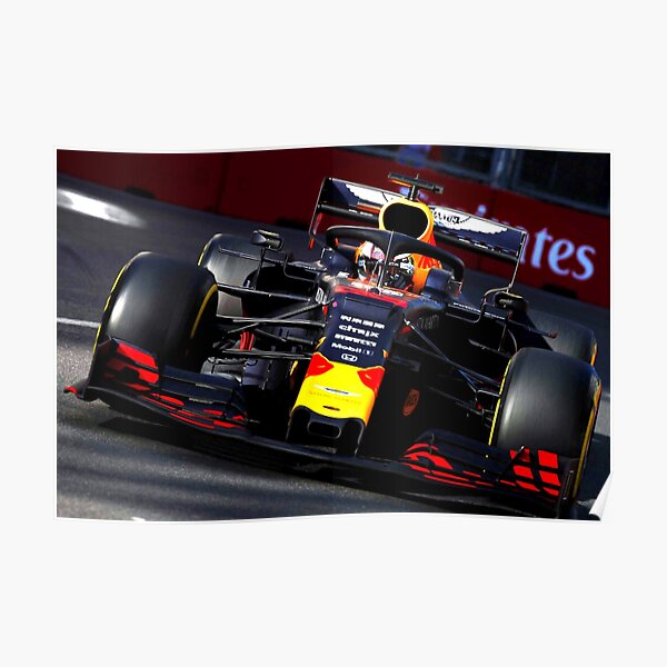 Max Verstappen during the Grand Prix at Baku 2019 Poster