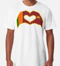 We Heart Sri Lanka Patriot Flag Series Long T-Shirt