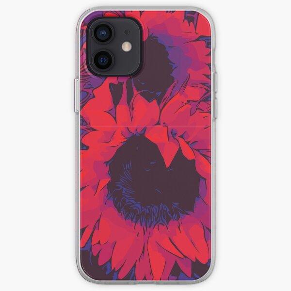 Rote Sonnenblumen Blumenposter WelikeFlowers iPhone Flexible Hülle
