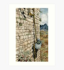 Watercolor Tribute to Arthur Rackham's Rapunzel Art Print