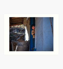 Nepal- The Little Boy Art Print