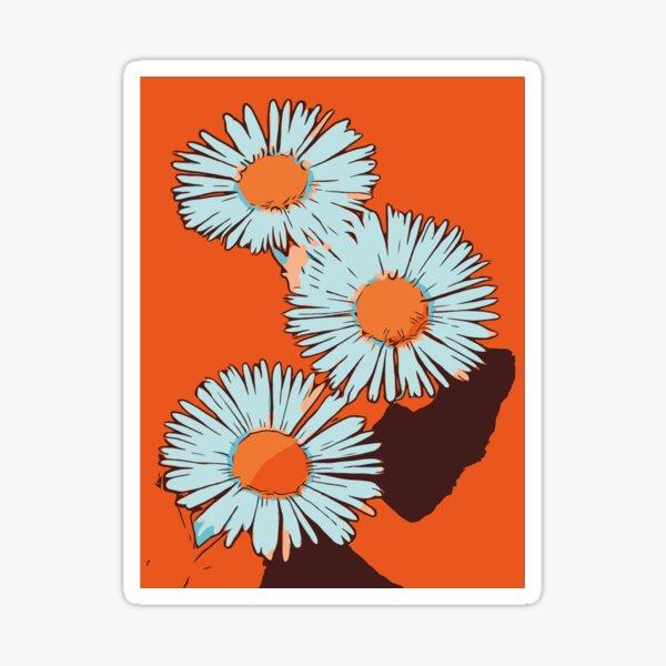 """Gänseblümchen orange florales Blumenposter """"WelikeFlowers"""" Sticker"""