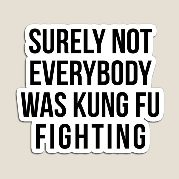 Surely Not Everybody Was Kung Fu Fighting Magnet