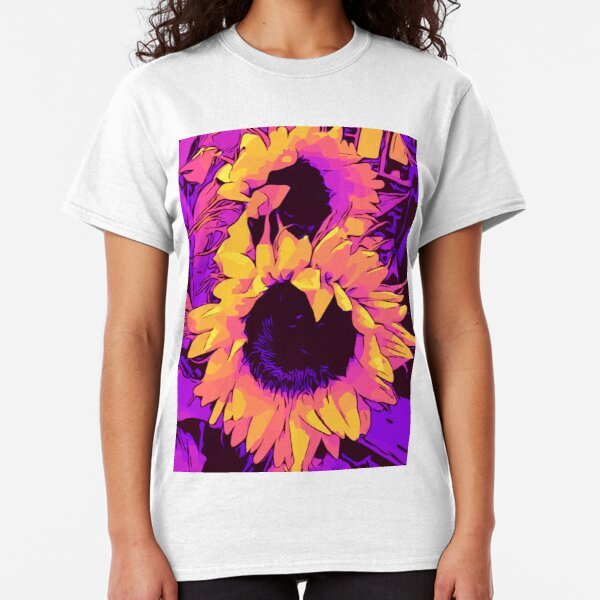 """Funky Sunflowers """"floral poster WelikeFlowers Classic T-Shirt"""