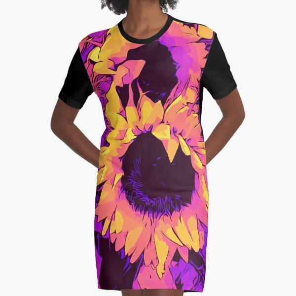 "Funky Sunflowers"" Blumen-Poster ""WelikeFlowers"" T-Shirt Kleid"