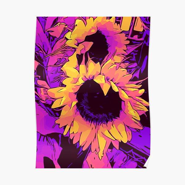 "Funky Sunflowers"" Blumen-Poster ""WelikeFlowers"" Poster"