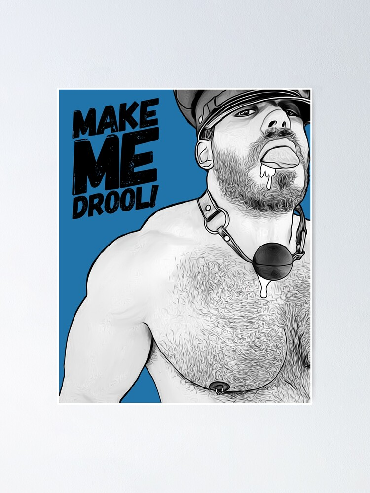 Alternate view of Drooling (Inktober) Poster