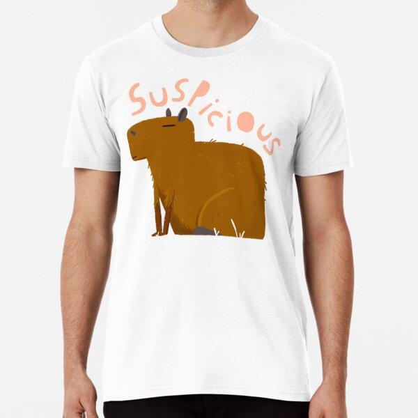 Suspicious capibara  Premium T-Shirt