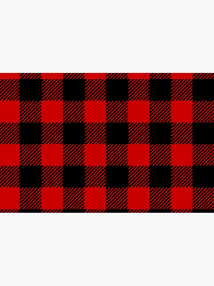 Red plaid pattern by kapotka