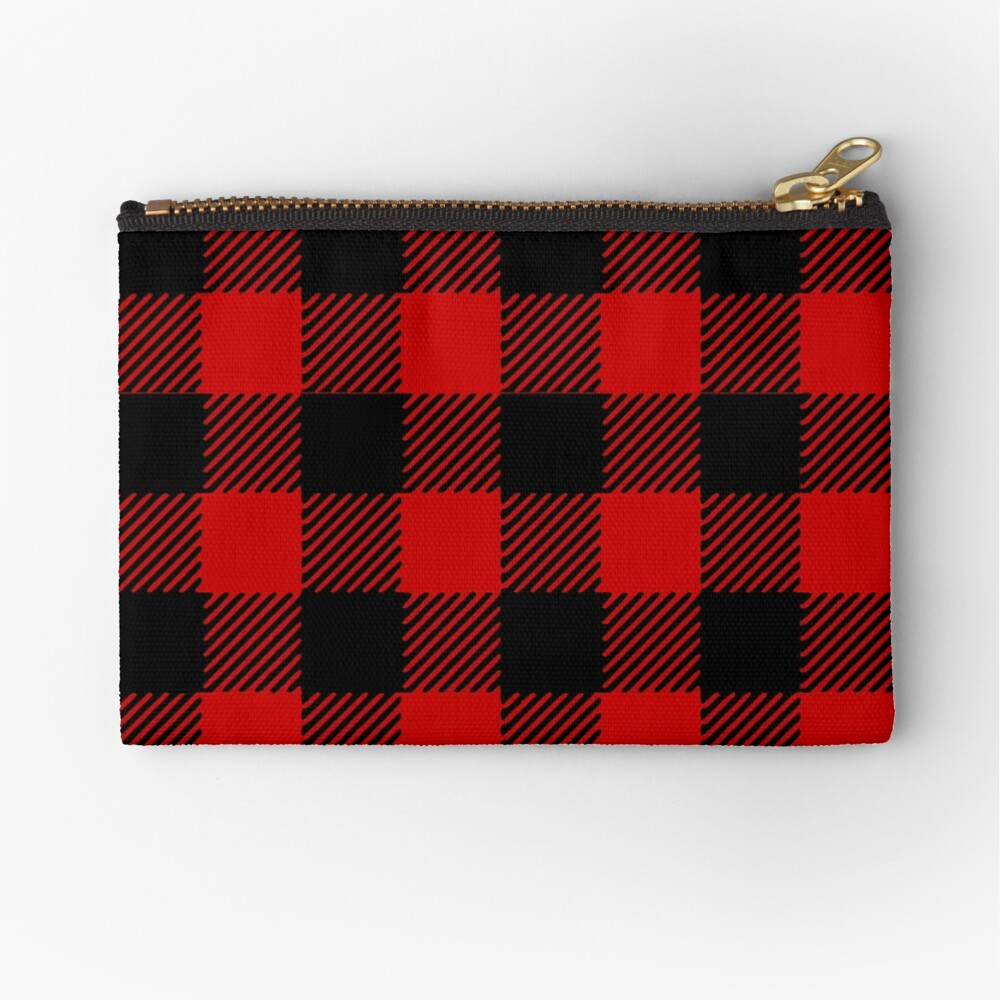 Red plaid pattern Zipper Pouch