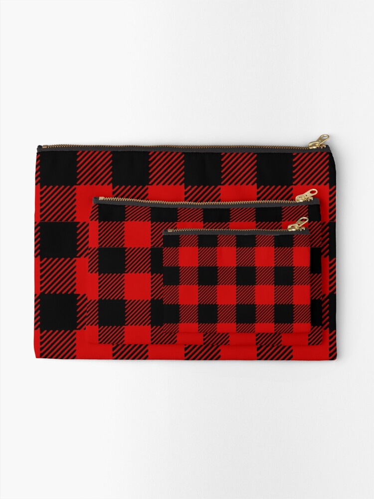 Alternate view of Red plaid pattern Zipper Pouch