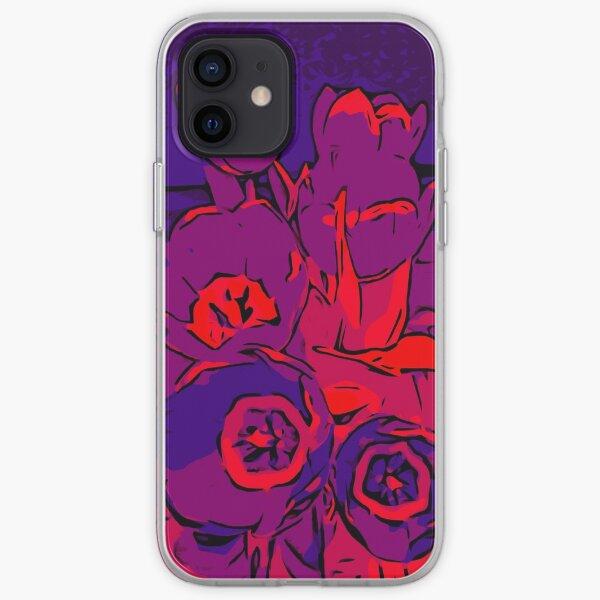 Tulips red violet – Blumenposter WelikeFlowers iPhone Flexible Hülle