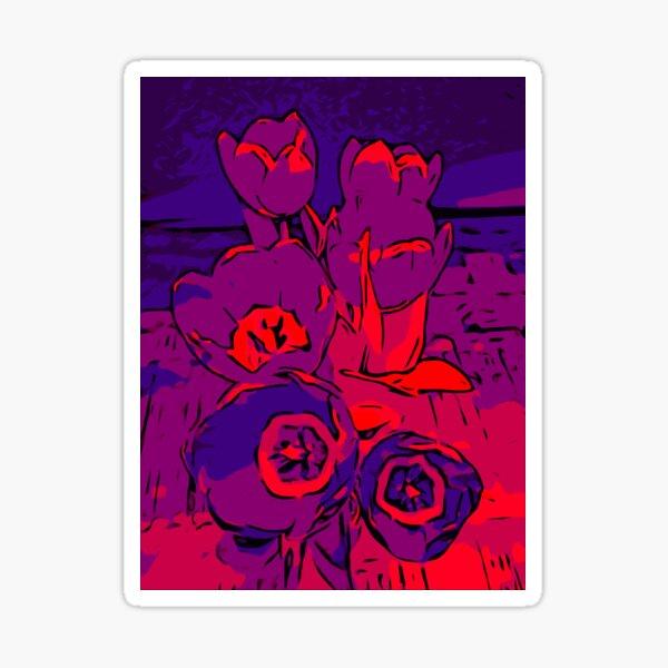 Tulips red violet – Blumenposter WelikeFlowers Sticker