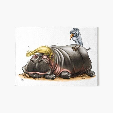 Cleaning the Swamp Art Board Print