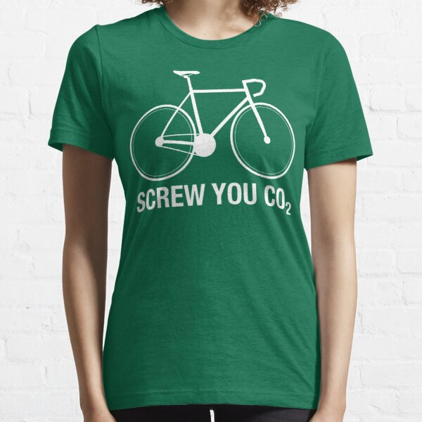 SCREW YOU CO2   White Ink Essential T-Shirt