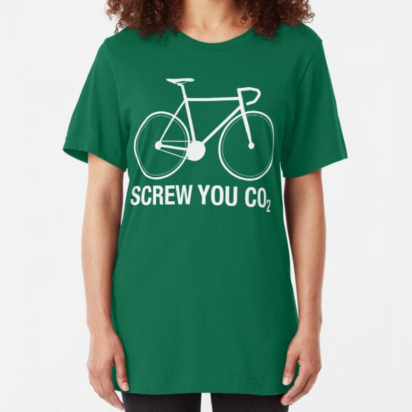 SCREW YOU CO2 | White Ink Slim Fit T-Shirt