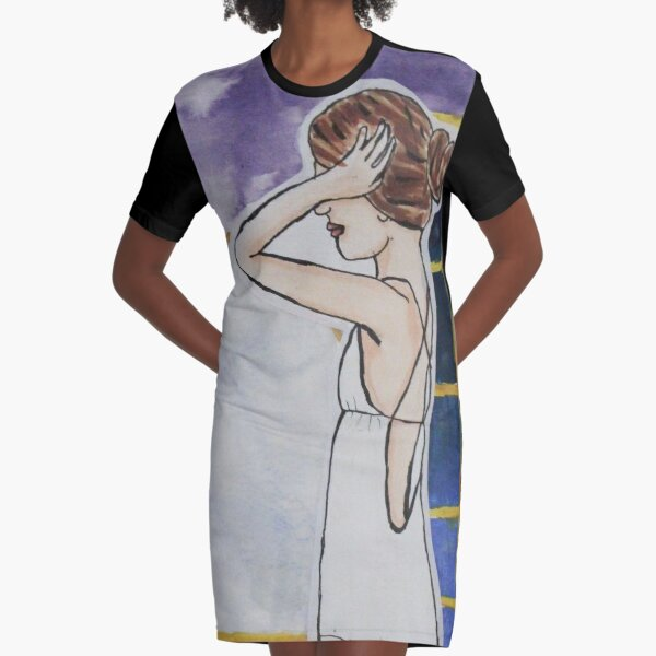 Bed Time Graphic T-Shirt Dress