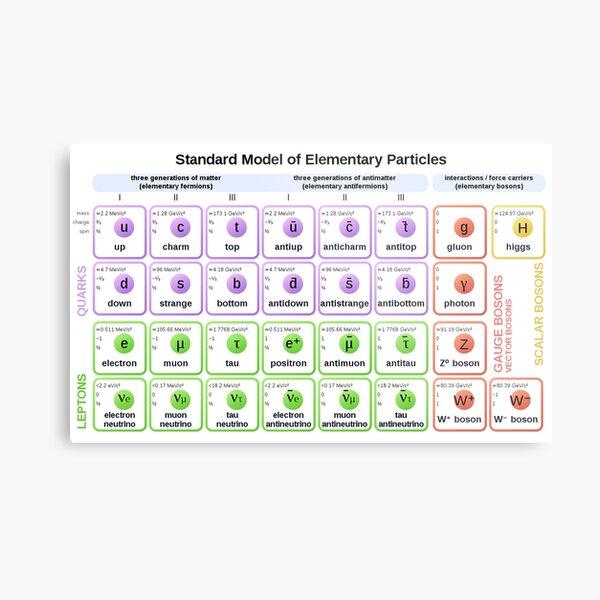 #Standard #Model of #Elementary #Particles Metal Print