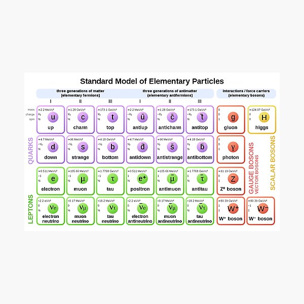 Print, #Standard #Model of #Elementary #Particles Photographic Print