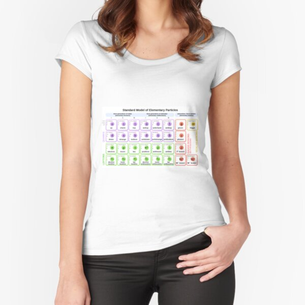 #Standard #Model of #Elementary #Particles Fitted Scoop T-Shirt