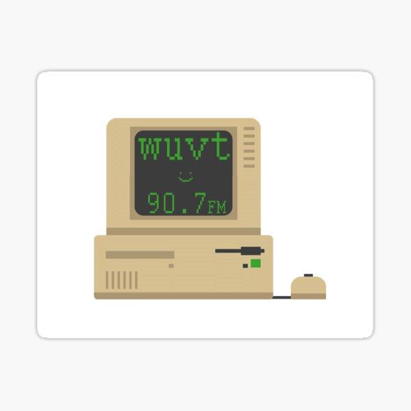 WUVT Computer Sticker