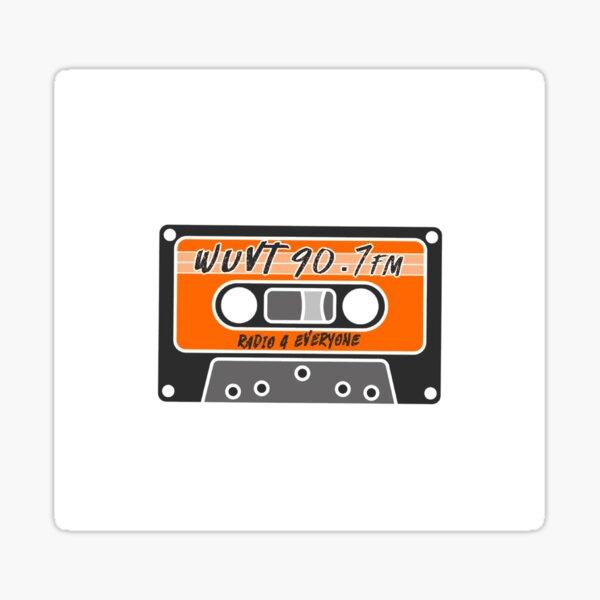 WUVT Cassette Sticker
