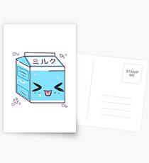 Kawaii Milk Carton Postcards