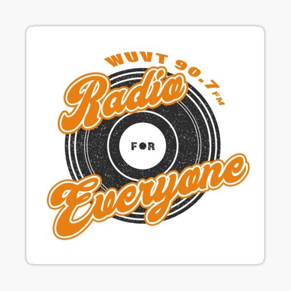 WUVT Radio for Everyone Logo Sticker