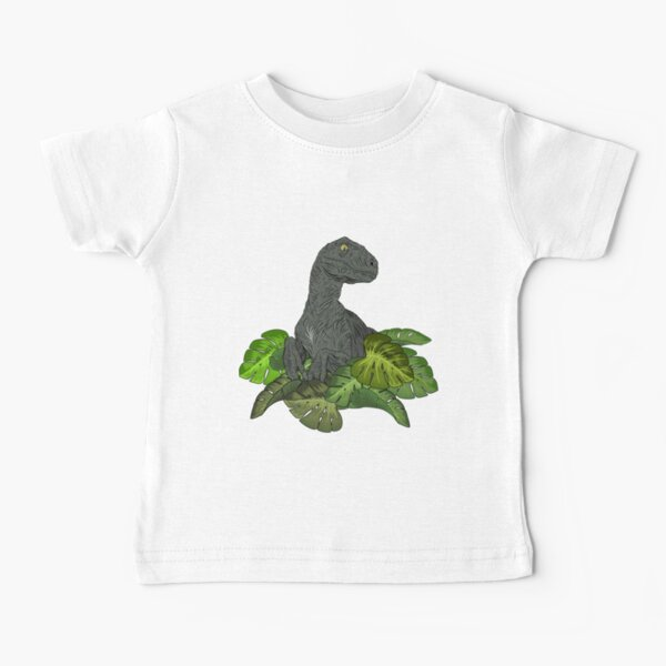 Cute Raptor in the jungle Baby T-Shirt