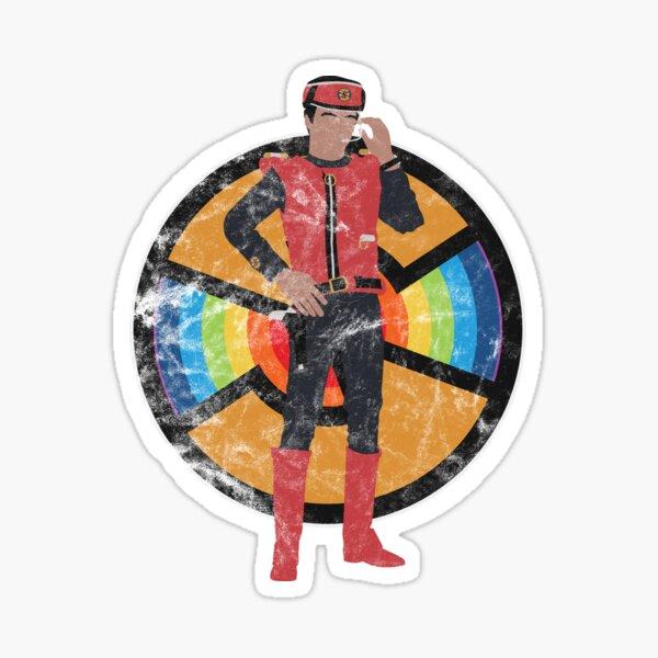Scharlachrot des Spektrums Sticker