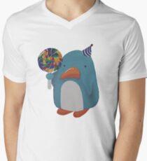 Party Penguin Men's V-Neck T-Shirt