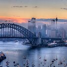 Misty - Sydney Harbour, Sydney Australia ( 35 Exposure HDR Panorama) - The HDR Experience by Philip Johnson